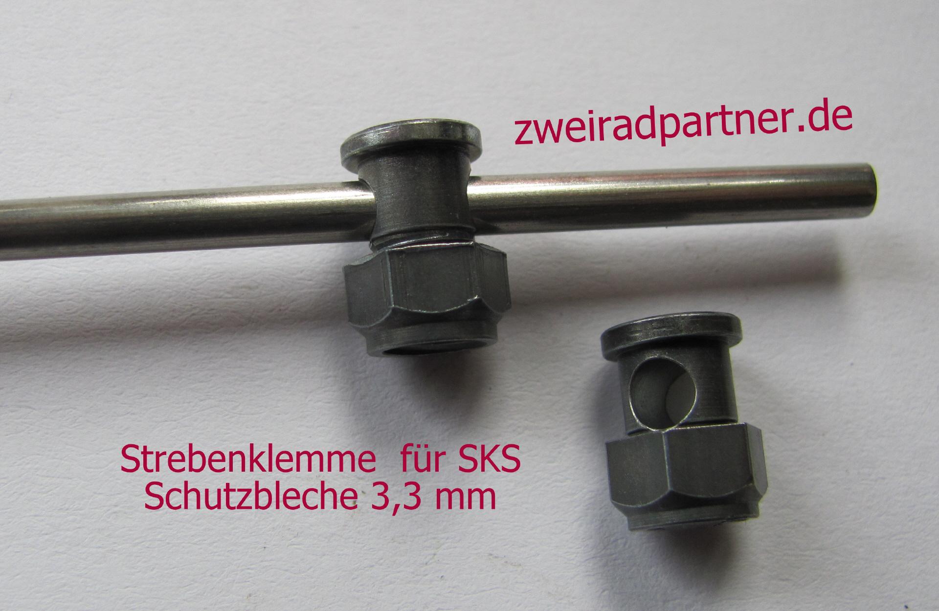 2 Stück Schutzblechstreben Befestigung Clips Strebenklemme Schwarz